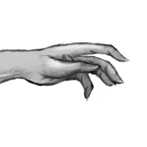 I get really excited with this one mostly because I've never been able to draw hands and this one came out great.
